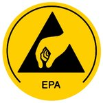 ESD Workstation Warning Labels Warmbier 2850.10