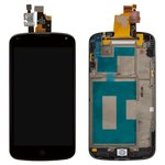 LCD for LG E960 Nexus 4 Cell Phone, (black, with touchscreen, with front panel)
