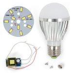 Juego de piezas para armar lámpara LED SQ-Q02 5730 5 W (luz blanca fría, E27)
