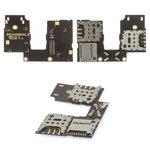 Conector de tarjeta SIM Motorola XT1544 Moto G3 (3nd Gen), XT1550 Moto G3 (3nd Gen), dos tarjetas SIM, con el conector de tarjeta de memoria, con cable flex