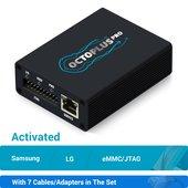 Octoplus Pro Box con juego de cables 7 en 1 (con activaciones Samsung + LG + eMMC/JTAG)