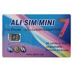 Обновляемая карта Ali SIM Mini 7 для телефонов iPhone 5/5C/5S/SE/6/6+/6S/6S+/7/7+