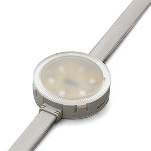 Комплект круглых LED-модулей (полноцветные, 6 светодиодов SMD3535, 50 мм, IP68, 20 шт.)