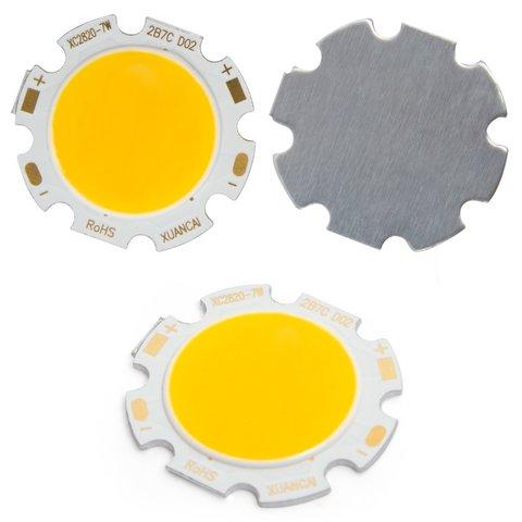 COB LED модуль 7 Вт теплий білий, 650 лм, 28 мм, 300 мА, 21 23 В