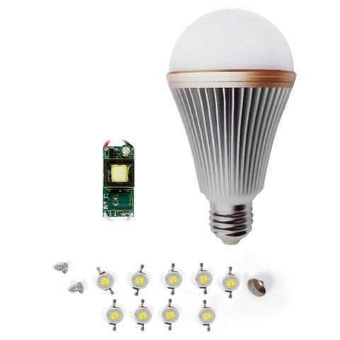 Комплект для збирання LED лампи SQ Q24 E27 9 Вт – холодний білий