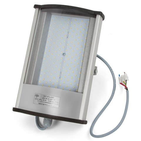Вуличний LED прожектор 30 Вт, 220 В, 3300 лм, IP65, прямокутний